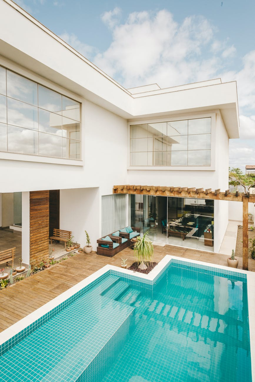 contemporary resort building with minimalistic design
